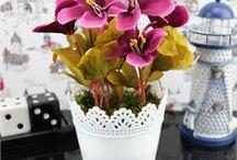 Yapay Çiçekler&Saksılar
