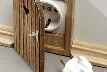 Porte prise électrique