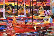 Mosaics - Seascapes and boats