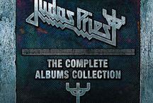 """Judas Priest - The Complete Albums Collection / Pudło zawierające w sobie wszystkie płyty Judas Priest nagrane z Robem Halfordem, od debiutanckiego """"Rocka Rolla"""", aż do koncepcyjnego albumu """"Nostradamus""""."""