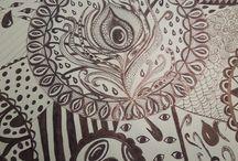 zelf getekende mandala's