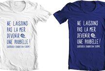 tees / Des stees shirts avec nos illustrations. Tee shirts with printed illustrations we've designed.