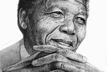 Nelson Mandela Preliminary Sketches / Nelson Mandela Preliminary Sketches.