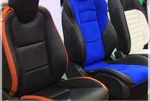 Leather Interiors / Beautify Your Vehicle Interior with our Luxurious, Supple Leather Seat Upholstery Packages - Customize and Make it Your Own - Leather in a Variety of Shades and Colors, Custom Sitiching, and Logos !