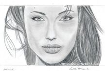 my drawings / my drawings, portraits from famous peoples, fairy tale characteres and others