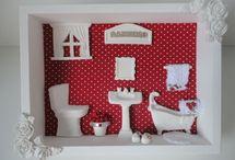 miniaturas de banheiro