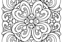 coloring for adults - zentangle / zentangle, coloring, relaxing