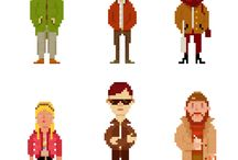 Characters / This is a collection of pixel art characters