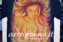 "airbrush T-Shirt by ""aeropenna"" / aerografie su t shirt"