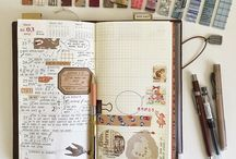 journaling, fonts, etc. / ways to journal, keep a journal, aesthetically pleasing fonts & journals, occasional art, ways to keep calendars