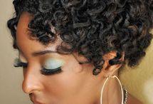 Au naturel hair style