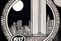 Buildings and Structures: Hobo Coin Carvings
