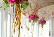 Hochzeitsdekoration Pink/Lila