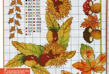 вышивка - осень