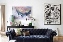 Interior Design Style:  Retro Glam / Inspiration for a glamours, luxury style home.