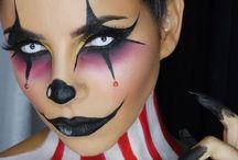 clown makeup girl