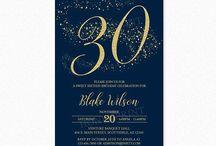 Milestone Birthday Party Invitations