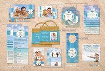 Beach Themed Destination Wedding / A wedding set for beach themed destination weddings by LiveLoveLast.com