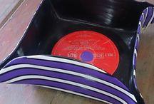 LP Vinyl Decor / Handmade LP and Vinyl record decor