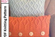 Oreiller en tricot