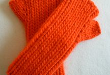 Fingerless gloves, mitts, and handwarmers