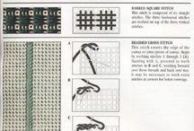 Вышивка по пластиковой канве