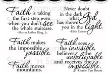 faith stamps sayings
