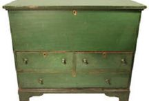 Country Furniture / Selection of painted 18th and 19th century furniture