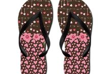 Flip Flops / Men's And Woman's Flip Flops From Zazzle / by Butterflies Are Blooming