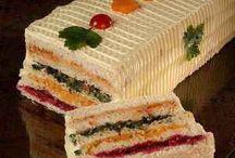 Tortas doces e salgadas