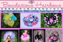 Bowdacious Hairbows / Bowdacious Hairbows creates beautiful one of a kind hair accessories for all occasions! All items are designed and created by me . This is a one woman show operated by a stay at home mother to 4 children ages 6,5,4, and 2..until next year ;-p. All of the items you see are available for purchase. Check Bowdacious  out on Facebook www.facebook.com/bowdacioushairbows or on the web at www.bowdacioushairbows.com. I also have an etsy shop www.etsy.com/shop/bowdacioushairbows / by Marisa Coble