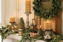 Holiday - Christmas mantle ideas / by Michelle Tuma-Spano