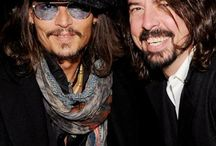 Johnny Depp and Dave Grohl .... Um, yes please!!! / Better make mine a double!!!
