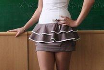 Secretaries, stockings & pantyhose