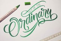 Typography, lettering, language