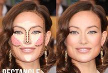 make up ovale face