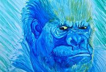 Animais em Aquarela / Aqui você verá alguns dos animais que gosto de pintar em aquarela e nanquim sobre diversos suportes.
