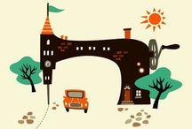 Иллюстрации швейных машин