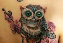 Owl and butterfly