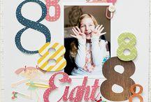 Scrapbook Layouts - Birthday