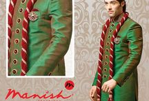 ethnic wear / If you look good, you feel good and if you feel good, you do good!! Dress like you are the king for your day!! #ManishCreations #EthnicWear #GrandeurinGreen #KingSize