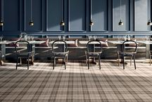 Tiles inspired by fabric, carpet and Burberry
