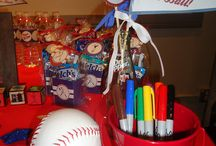 sports themed baby shower / by Kathy Jones