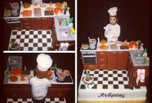 Chef / Cake with sugar paste