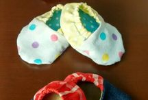 Sewing for Baby / A few experiments from my worktable. Links to the tutorial pages that helped me given where ever available.