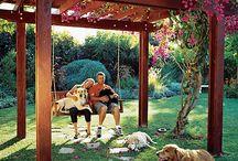 Garden ideas / Spring garden, Roof garden, Garden ideas, Home decor, Gardening furniture, Garden design