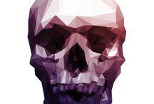 SkullsPixelGeometric