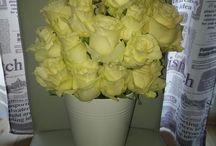 kwiaty w pudełkach(moje prace)