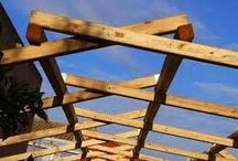 structura acoperis / dimensions of timber truss