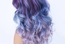 Hair models and hair colors